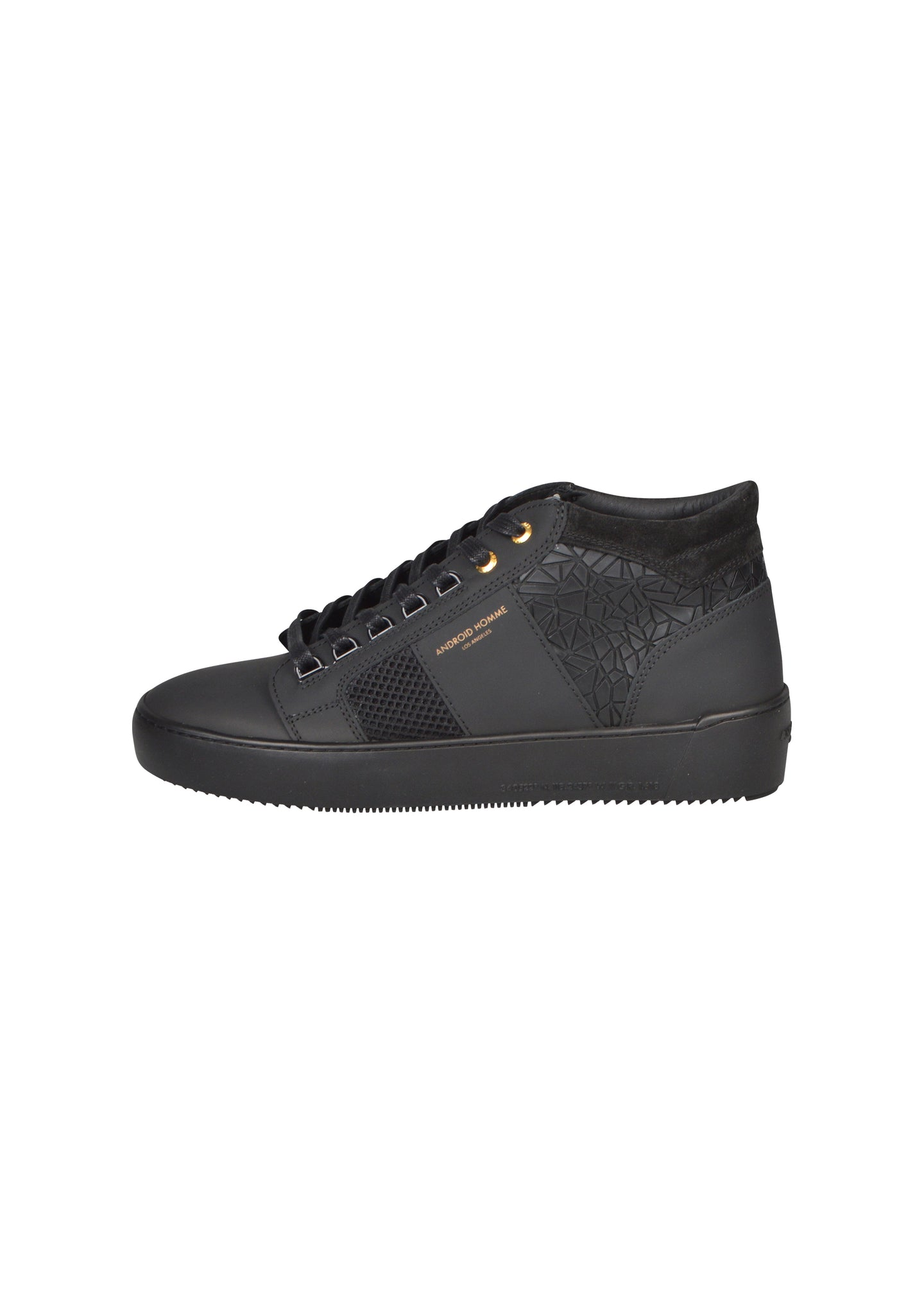 Android Homme - Propulsion Mid Top Black Rubber Mosaic - AHP19307 - Black