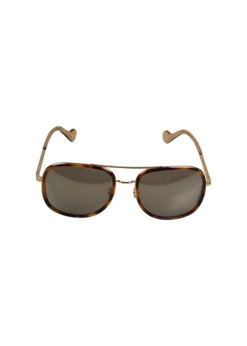 Moncler - Classic Metal Frames Sunglasses - 099493 - ML0145 - Gold