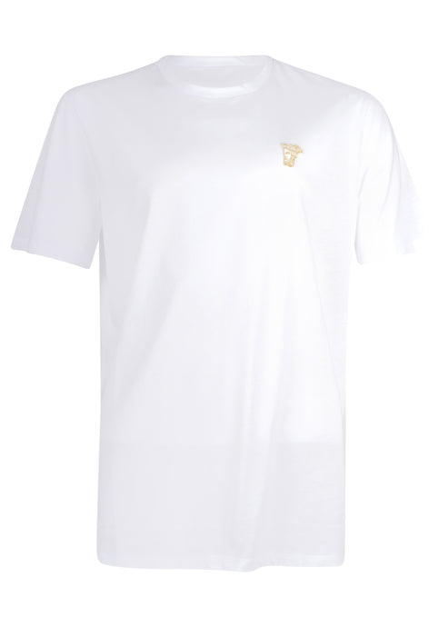 Versace Collection - Classic Iconic Half Medusa Short Sleeve T-Shirt - 097000 - V800683R - White Gold