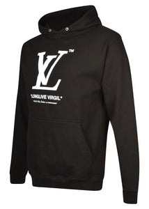 Kustom London - Longlive Virgil Hooded Sweatshirt - 100128 - Black