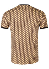 Balmain - All Over Iconic Monogram B Logo Crew Neck T-Shirt - 100160 - Beige