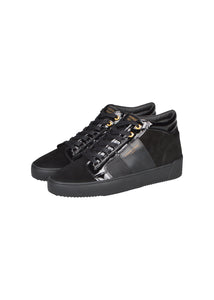 Android Homme - Propulsion Mid Top Geo Black Patent Suede - 100250 - Black