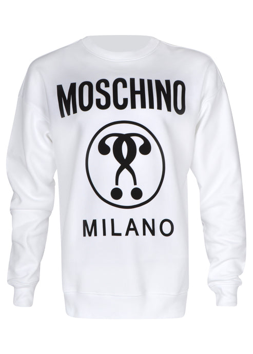 Moschino - Crew Neck Double Question Mark Print - A17047027 - White