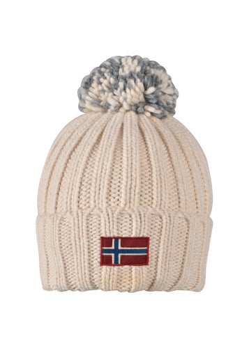 Napapijri- Ski knit Bobble Hat . One Size Semiury- 100321 - Cream