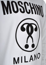 Moschino - Crew Neck Double Question Mark Print - 100020 - A17047027 - White