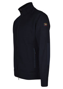 Paul & Shark - Classic Zip Through Heavy Knit Funnel Neck Jacket - 100187 - Navy