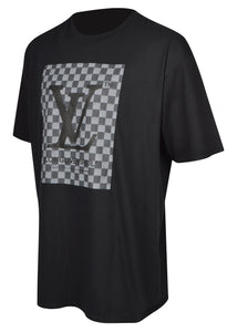 Kustom London - Crewneck T-Shirt Love Virgil Checkerboard - 099532 - Black