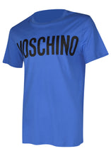 Moschino - Crew Neck T-Shirt Classic Block Moschino Logo Chest - J07057040 - Blue BR