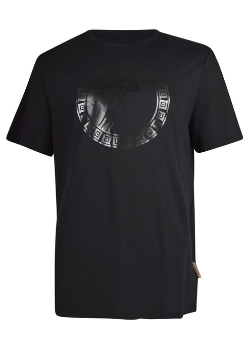 Versace Collection - Short Sleeve Iconic Tonal Big Half Medusa - 098035 - Black Black