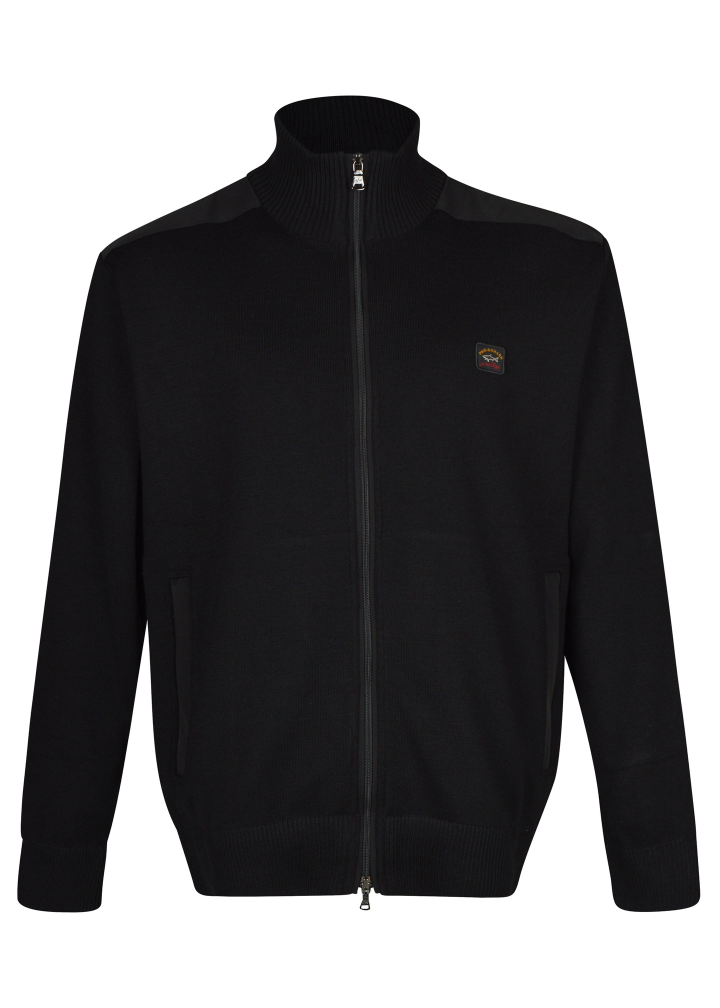Paul & Shark - Classic Zip Through Heavy Knit Funnel Neck Jacket - 100187 - Black