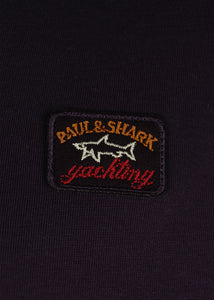 Paul & Shark - Crew Neck T-Shirt Badge on Chest - 099317 - Navy