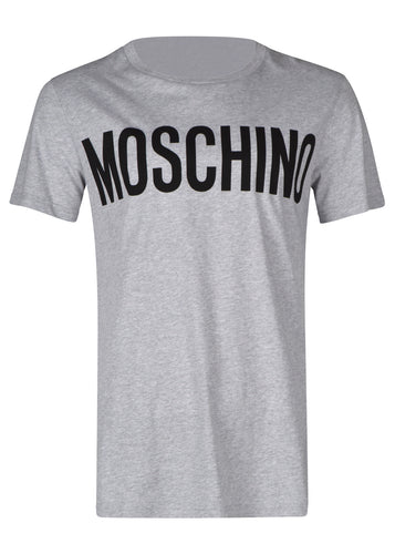 Moschino - Crewneck T-Shirt Classic Block Moschino Logo Chest - 100019 - J07057040 - Grey