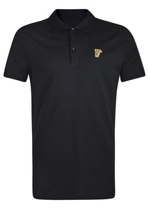 Versace Collection - Short Sleeve Classic Iconic Half Medusa Polo Shirt - 095011 - V800708 - Black Gold