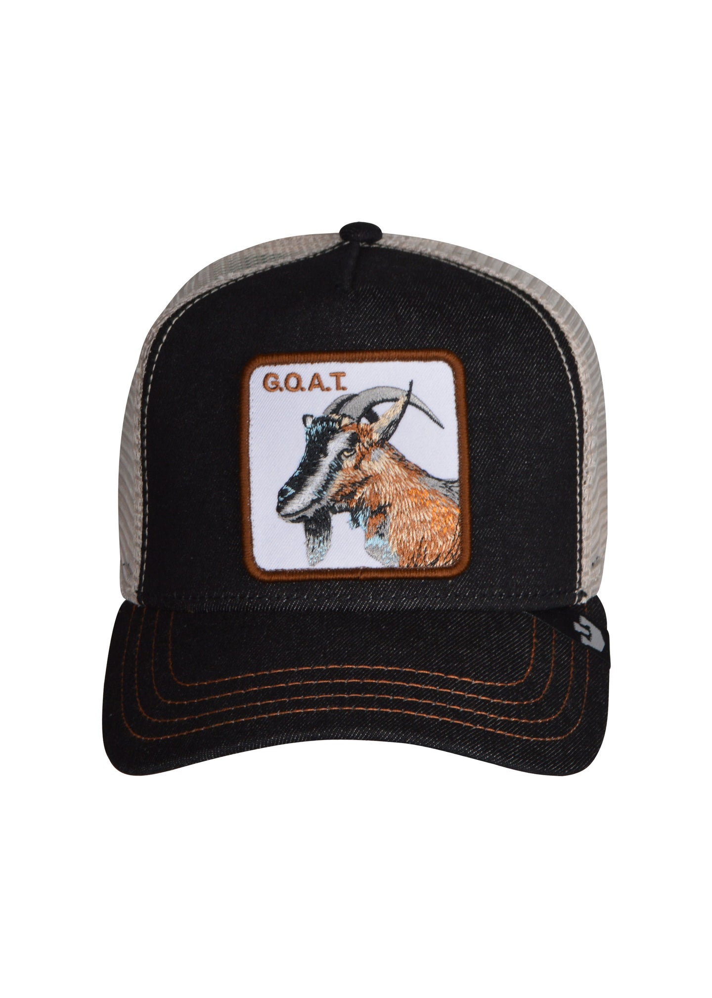 Goorin Bros - Big G.O.A.T. Embroidered patch  Trucker Hat - 099534 - Big G.O.A.T.