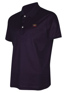 Paul & Shark - Short Sleeve Pique Polo Under Collar Paul and Shark Branding - Navy
