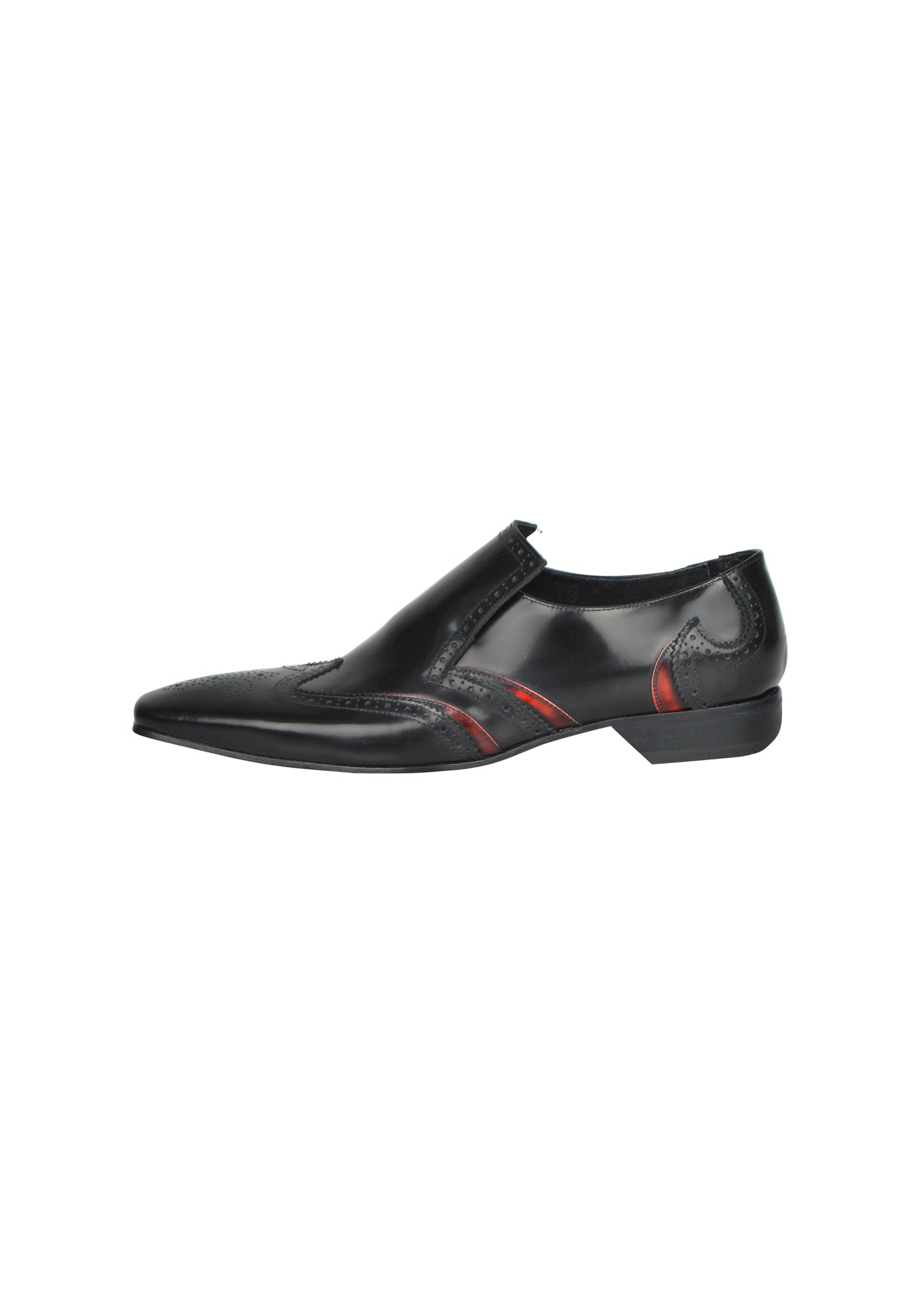 Jeffery West - Slip On Brogue - 100292 - Black