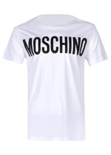 Moschino - Crewneck T-Shirt Classic Block Moschino Logo Chest - 100019 - J07057040 - White