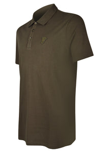 Versace Collection - Short Sleeve Classic Iconic Half Medusa Polo Shirt - 095011 - V800708 - Khaki