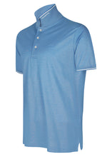 Paul & Shark - Short Sleeve Oxford Polo Embroidered Small Chest Logo Under Collar Detail - 099324 - Sky