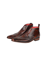 Jeffey West - K159 Antique Lace Boot Moc Croc Mix Brogue - Brown Mix