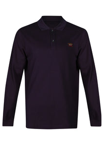 Paul & Shark - Long Sleeve Pique Polo Small Badge on Chest - 100183 - Navy