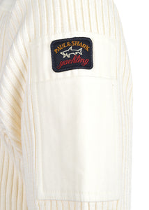 Paul & Shark - Classic Crew Shoulder Patch Detail Badge on Arm - 100189 - Cream