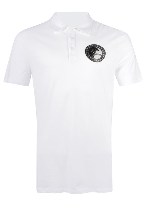Versace Collection - Classic Iconic Half Medusa Rubber Contrast Logo - 097272 - V800708C VJ001180 - White