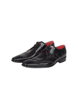 Jeffrey West - Muse Collection High Shine Fleur De Lys Brogue Detail On Toe - 099261 - Black