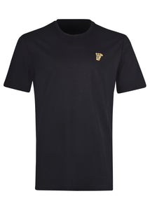 Versace Collection - Classic Iconic Half Medusa Short Sleeve T-Shirt - 097000 - V800683R - Black Gold