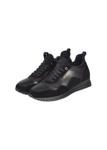 Paul & Shark - Hiking Boot Leather Suede Mix Chunky Sole Lace Up - Black