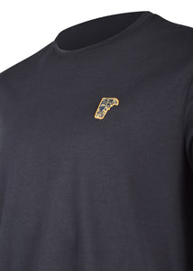 Versace Collection - Classic Iconic Half Medusa Short Sleeve T-Shirt - 097000 - V800683R - Navy Gold