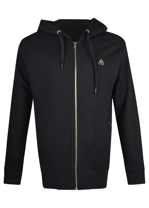 Moose Knuckles - Treford zip through hooded Track  jacket - black