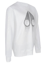 Moose Knuckles - Dennison Crewneck Sweatshirt Matrix Iconic Logo Image - 100143 - White