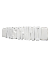 Moschino - Iconic Moschino Buckle Belt - 093003 - 171Z1A8014480011 - White White