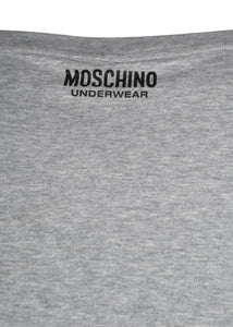 Moschino - Short Sleeve Crew T-Shirt Multi Colour Tape Shoulder - A1916 - Grey