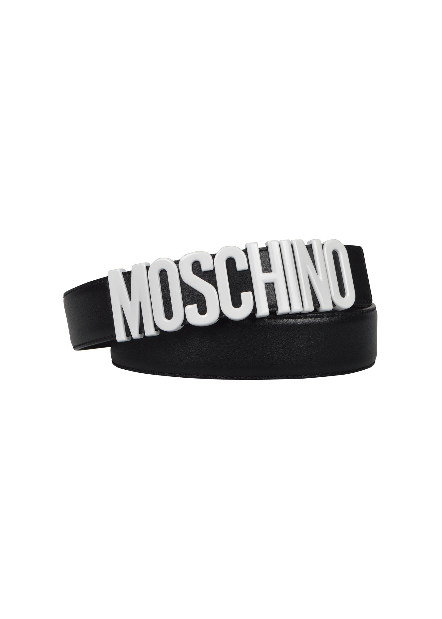 Moschino - Iconic Moschino Buckle Belt - 093003 - 171Z1A8014480011 - Black White