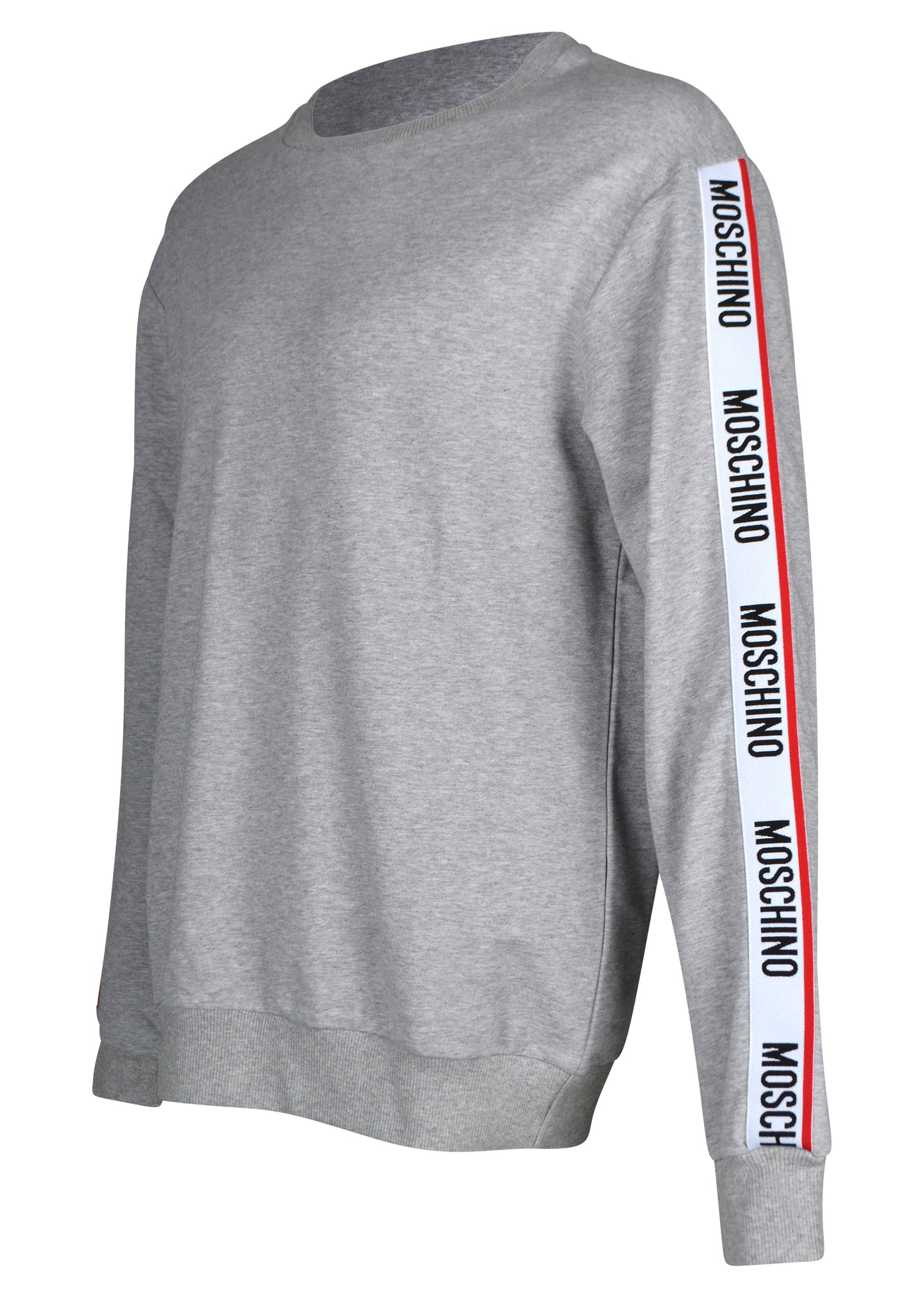 Moschino - Crewneck Tape Sleeve Detail Sweatshirt - 100078 - A1706 8106 - Grey