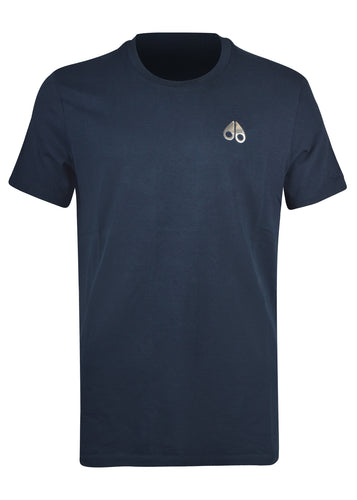 Moose Knuckles - Sully Crewneck T-Shirt Small Iconic Logo - 100187A - Navy