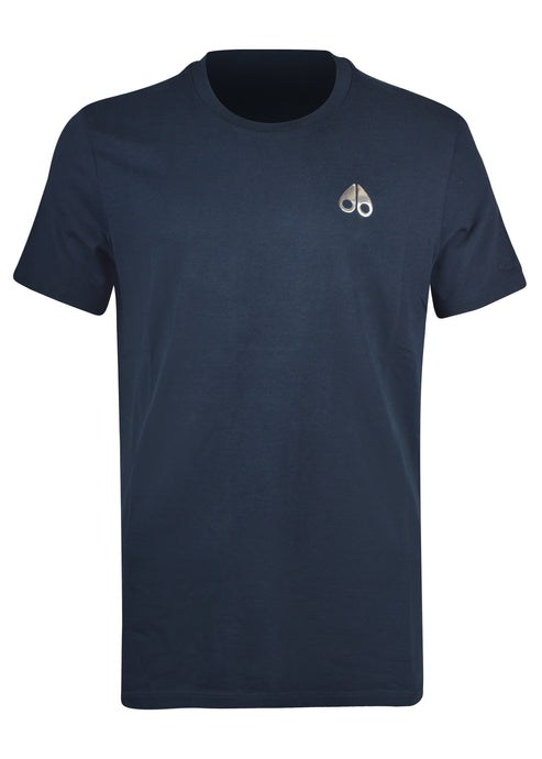Moose Knuckles - Sully Crewneck T-Shirt Small Iconic Logo - Navy