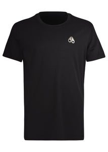 Moose Knuckles - Sully Crewneck T-Shirt Small Iconic Logo - 100187A - Black