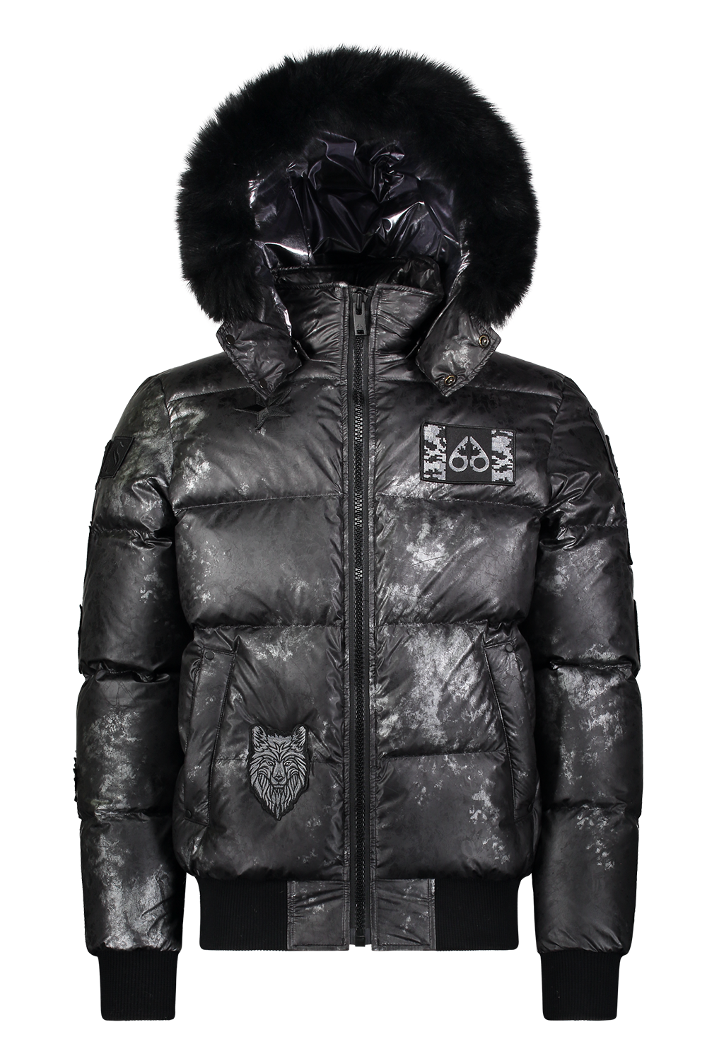 Moose Knuckles - Pengarth Fur Bomber Jacket - Camouflage Silver