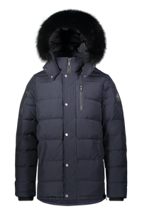 Moose Knuckles - Bellwood Light Weight Fur Hood Parka - Navy Black