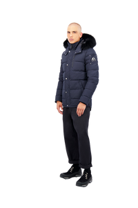 Moose Knuckles - Bellwood Light Weight Fur Hood Parka - 100130 - Navy Black