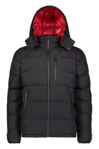 Moose Knuckles - Viamonde Quilted Nylon Jacket - 100136 - Black Red