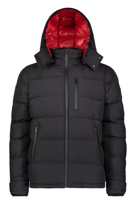 Moose Knuckles - Viamonde Quilted Nylon Jacket - Black Red