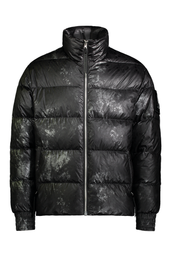 Moose Knuckles - Javelin Carbon Camouflage Print Puffer Jacket - 100207 - Black Carbon