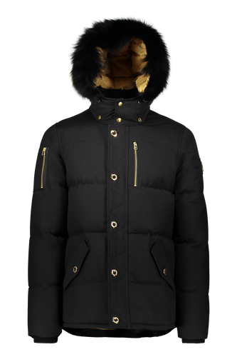 Moose Knuckles - Minnentonka Gold Icon Lining - 100133 -  Black Gold Black