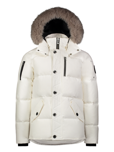 Moose Knuckles - 3Q Fur Hooded Parka - 100327 - White Grey