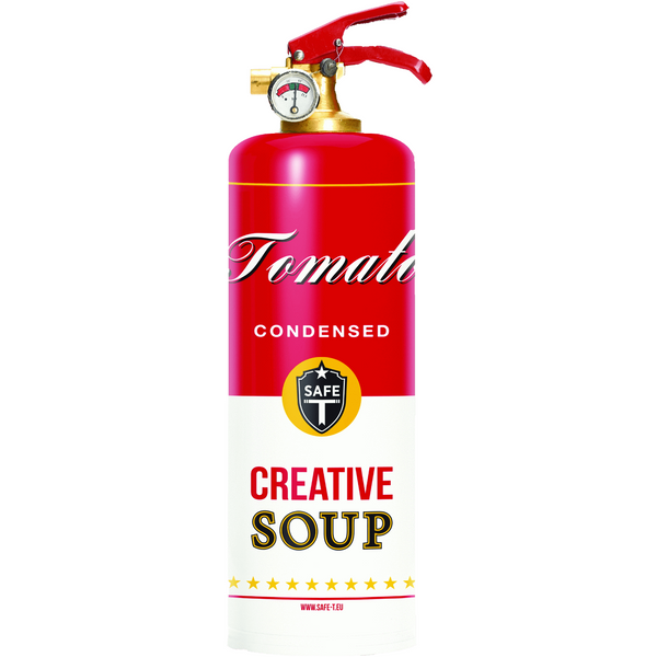 Safe-T Designer Fire Extinguisher soup unique housewarming gift