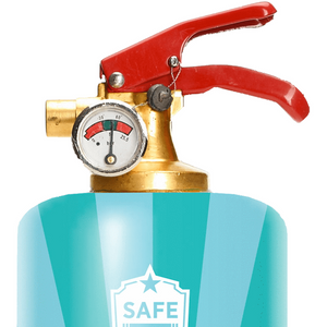 Safe-T Designer Fire Extinguisher wine unique housewarming gift top
